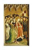 St Ursula and Virgins, Left Panel of Adoration of Magi Altarpiece, Circa 1445 Giclee Print by Stefan Lochner