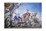 Aeneas Arrives at Mouth of Tiber, Detail from Stories of Aeneas Giclee Print by Pietro da Cortona