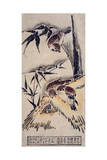 Sparrows in the Snow, C.1725 Giclee Print by Okumura Masanobu