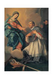 Apparition of the Virgin to the Venerable Palafox Giclee Print by Mariano Salvador de Maella