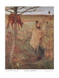 France, Small; Girl; Fauvette; Cow; Rural; Poor; Clothing Giclee Print by Jules Bastien-Lepage