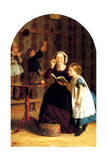 The Reading Lesson Giclee Print by Seymour Joseph Guy