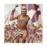 Zulu Warrior Giclee Print by Pat Nicolle