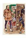 David Copperfield Meets Mr Micawber Giclee Print by Peter Jackson