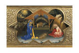 Depiction of Nativity, Detail of Predella of Coronation of Virgin, 1414 Giclée-tryk af Lorenzo Monaco
