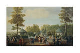 Small Square in Prince's Garden at Aranjuez Castle South of Madrid Giclee Print by Mariano Ramon Sanchez