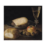 Still Life of Fruits, Cheese and Bread Giclee Print by Sebastian Stoskopff