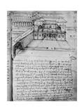 Architectural Sketch for an 'Ideal City', Fol. 16 Giclee Print by Leonardo da Vinci