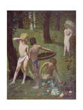 Detail from 'Autumn', 1871 Giclee Print by Pierre Puvis de Chavannes