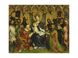 Adoration of Magi, Central Panel of Adoration of Magi Triptych, Circa 1445 Giclee Print by Stefan Lochner
