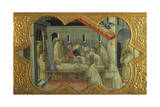 Funeral of St Bernardino, Detail of Predella of Coronation of Virgin Giclee Print by Lorenzo Monaco