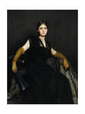 Entranced, or Lady in Black, 1886-87 Giclee Print by Hubert von Herkomer