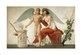 Cupid Inviting Venus to a Sacrifice Giclee Print by Louis Lafitte