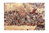 Battle in the City of Cholula Between the Spaniards and the Indians in October 1519 Giclee Print by Miguel Gonzalez