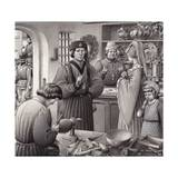 A Goldsmith's Shop in 15th Century Italy Giclee Print by Pat Nicolle