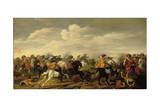 A Cavalry Skirmish in a Landscape Giclee Print by Palamedes Palamedesz