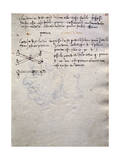 Extract from Book of Paintings, from Codex Trivulzianus, 1478-1490 Giclee Print by Leonardo da Vinci