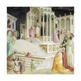 Presentation of Mary in Temple, Detail from Stories of Virgin Giclee Print by Taddeo Gaddi