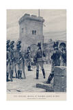 Pitt Drilling Militia at Walmer Castle in 1803 Giclee Print by Richard Caton Woodville II