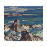 Rocks and Sea, Iona Giclee Print by Samuel John Peploe