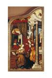 The Annunciation, from Left Panel of Altar of Wettenhausen, 1523-1524 Giclee Print by Martin Schaffner
