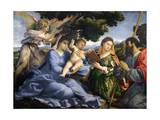 Madonna and Child Between Saints Catherine of Alexandria and Thomas Giclee Print by Lorenzo Lotto