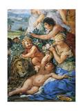 Italy, Florence, Palazzo Pitti, Stove Room in Palatine Gallery, Golden Age Giclee Print by Pietro da Cortona