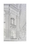 Column of Main Cupola of St. Peter's Basilica at Vatican Giclee Print by Paul Marie Letarouilly
