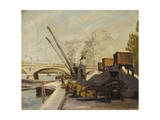 Cranes on the Seine; Grues Sur La Seine Giclee Print by Maximilien Luce