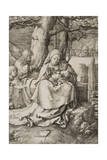 Virgin and Child with Two Angels, 1523 Giclee Print by Lucas van Leyden