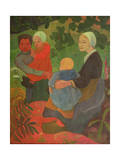The Young Mothers, 1891 Gicleetryck av Paul Serusier