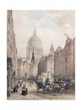 Fleet Street, C.1850 Giclee Print by Louis Jules Arnout