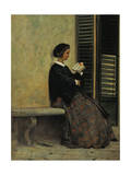 Reading, 1866-67 Reproduction procédé giclée par Silvestro Lega