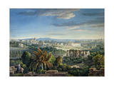 View of the Celian Hill, Rome, C.1800 Giclee Print by Louis-Francois Cassas