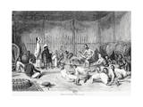 Reception by the Prince of Oubon, Laos, 1877 Giclee Print by Louis Delaporte