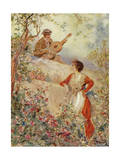 Serenade, Illustration Giclee Print by Pietro Scoppetta