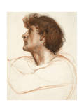 Head of a Man in Profile Giclee Print by Edward John Poynter