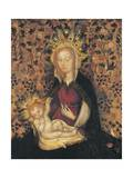 Virgin and Child, Detail from Madonna of Rose Garden Giclee Print by Michelino Da Besozzo