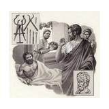 Galen the Physician Risks His Life Telling a Roman Emperor He Has Been Over-Eating Giclee Print by Pat Nicolle