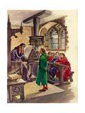 Schools in the Middle Ages Giclee Print by Peter Jackson