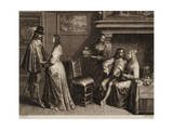 Two Young Men with their Ladies in an Interior Giclee Print by Schelte Adams Bolswert