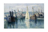 Dieppe, Un Bassin Giclee Print by Maximilien Luce