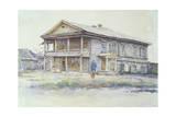 Surikov's House at Krasnoyarsk, 1890-91 Giclee Print by Vasilii Ivanovich Surikov