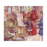 Lorenzo De Medici Visits the School for Artists Giclee Print by Pat Nicolle