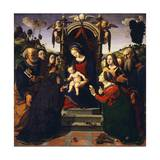 Madonna Enthroned Giclee Print by Piero di Cosimo