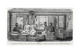 Commander Lagree Receiving the Chief of the Monks at Stung Treng, Cambodia, 1868 Giclee Print by Louis Delaporte