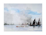 Thames Barges, Greenhithe, 1932 Giclee Print by Philip Wilson Steer