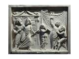 Roman Civilization, Relief of Theatre Scene from Comedy 'Andria' Giclee Print by Publius Terentius Afer