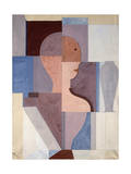 Split Half Figure to the Right, 1923 Giclee Print by Oskar Schlemmer