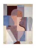 Split Half Figure to the Right, 1923 Giclee Print by Oskar Schlemmer